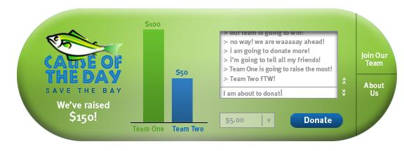 Nonprofit widget developed by Click and Pledge